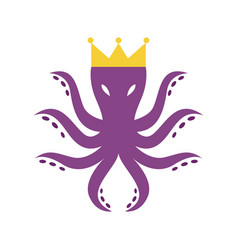 octopus king logo vector image