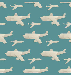 origami logistic paper plane transport seamless vector image