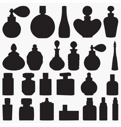 perfume bottle silhouettes vector image
