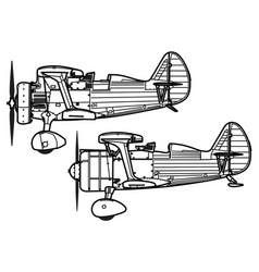 Polikarpov i-15 i-15bis chaika vector
