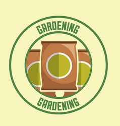 potting soil packages tool label gardening image vector image