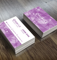 Purple Themed Business Card Template vector