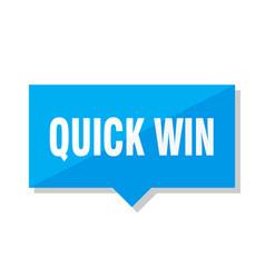 Quick win price tag vector