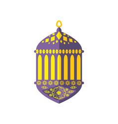 ramadan symbol turkish lantern vector image