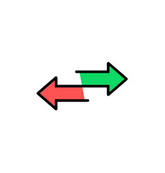 Red and green arrow like transfer vector