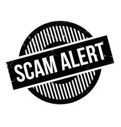 scam alert rubber stamp vector image