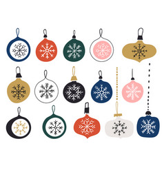set multi-colored christmas vector image