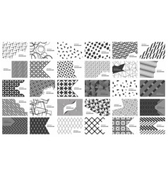 set of black and white abstract background vector image