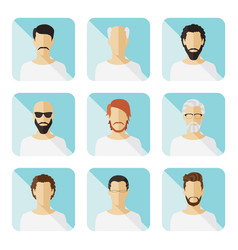 set of casual characters in flat design vector image
