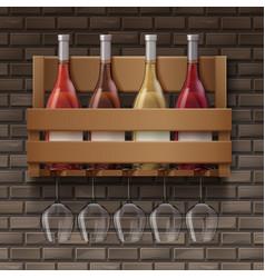 set of wine vector image