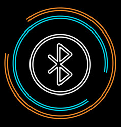 simple bluetooth thin line icon vector image