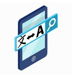 Smartphone with translator on the screen icon vector image