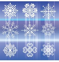 Snowflakes White vector image