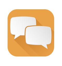 speech bubbles orange icon vector image