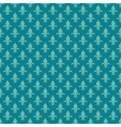 Teal fleur de lis seamless pattern vector image vector image
