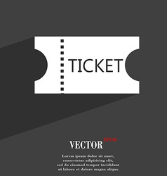 Ticket icon symbol Flat modern web design with vector