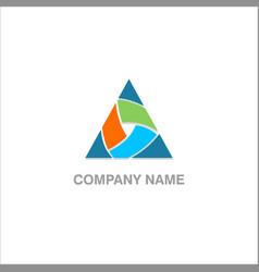 triangle shape colored company logo vector image