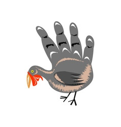 Turkey Hand Retro vector