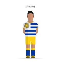 Uruguay football player Soccer uniform vector