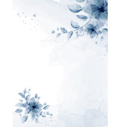 watercolor hand painted with blue flower bouquet vector image
