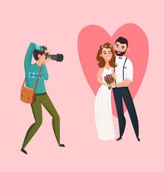 wedding photographer design concept vector image