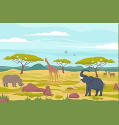 Wild african fauna composition vector