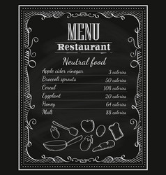 blackboard restaurant hand drawn chalkboard frame vector image