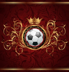 Football background with a gold crown vector image