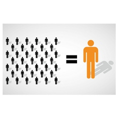 Many small people equal a big one vector image vector image