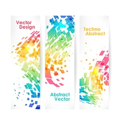 Abstract multicolored geometric background set vector image vector image