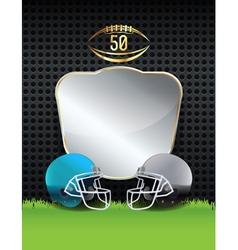 American Football Helmets Emblem vector image vector image