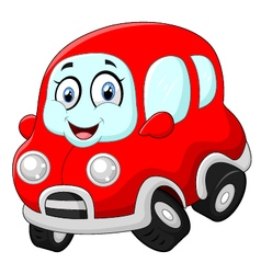 Funny red car vector image
