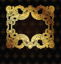 Gold Frame On Brown vector image