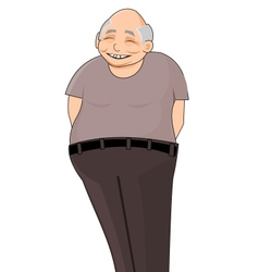 Smiling chinese pensioner vector image vector image