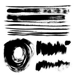 Strokes of black paint vector image vector image