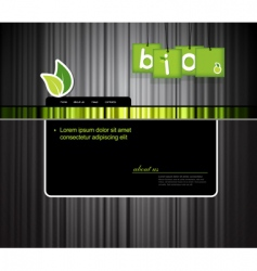 website template with bio sign vector image vector image