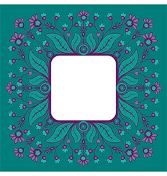 Decorative floral frame vector image vector image
