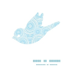 doodle circle water texture bird silhouette vector image