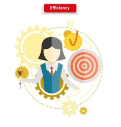 Icon Flat Style Concept Efficiency vector image