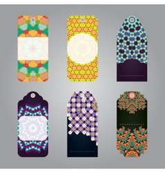 Set of gift sale tags with geometric elements vector image