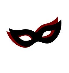 carnival mask logo design vector image vector image