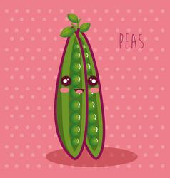 Fresh peas vegetable character vector