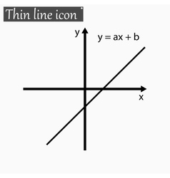 mathematical function Style Black thin line vector image