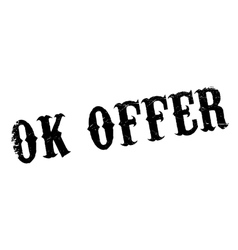 Ok Offer rubber stamp vector image