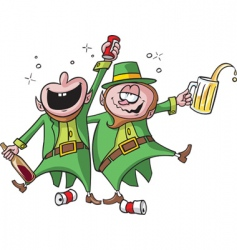 party leprechauns vector image vector image