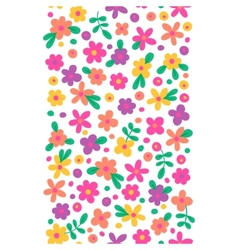 Seamless border with cute flowers vector image
