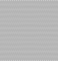 Simple seamless wavy line pattern vector image vector image