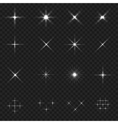 Sparkle icon set vector image