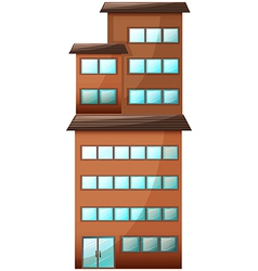 A high commercial building vector image