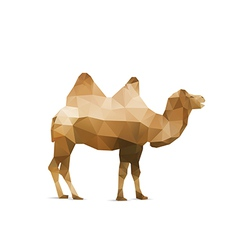Abstract origami camel vector
